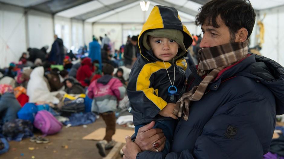 Flüchtlinge an der deutsch-österreichischen Grenze