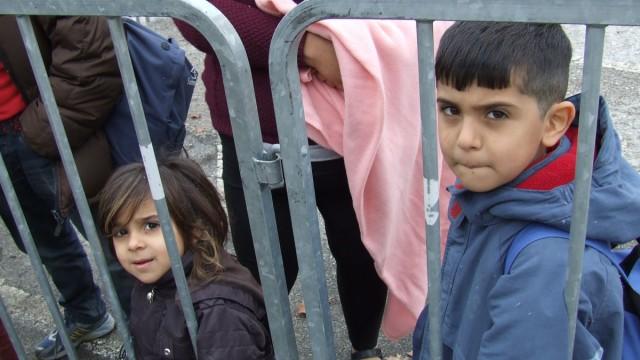 Slowenisches Flüchtlingslager Sredisce ob Dravi