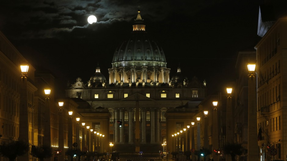 APTOPIX Vatican Pope; Petersdom im Vatikan