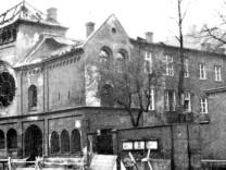"""Ausgebrannte Synagoge in München nach der """"Reichskristallnacht"""", 1938"""