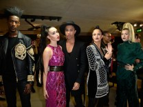 BALMAIN x H&M Collection : Olivier Rousteing Hosts The Public Launch  At Champs-Elysees
