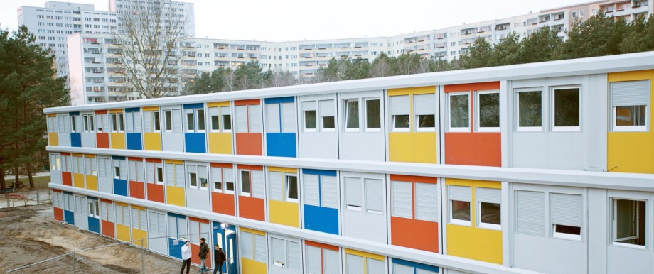 Flüchtlingsunterkunft aus Containern