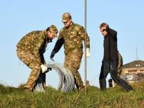 Bau eines Grenzzauns in Slowenien