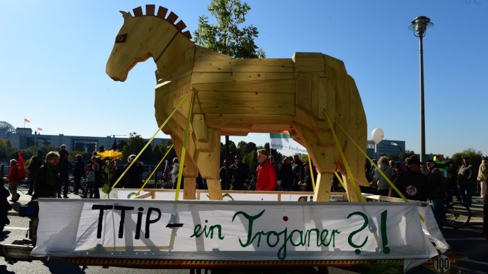Demonstration gegen TTIP
