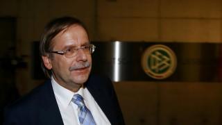 Rainer Koch, vice president of the German Football Association (DFB) outside the DFB headquarters in Frankfurt