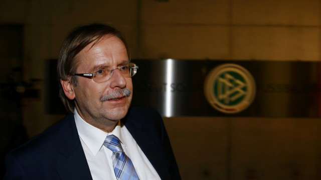 Rainer Koch, vice president of the German Football Association (DFB) outside the DFB headquarters in Frankfurt