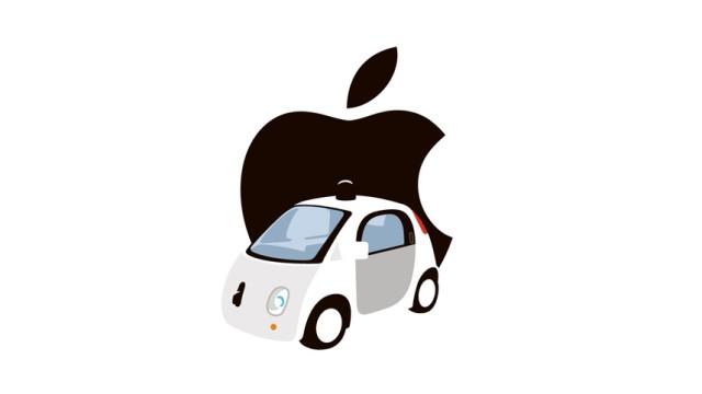 Illustration Apple und Google Car