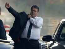 German Economy Minister Gabriel arrives to the Chancellery in Berlin