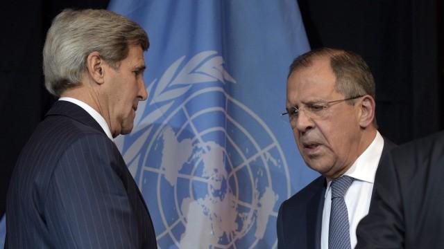 John Kerry uns Sergej Lawrow