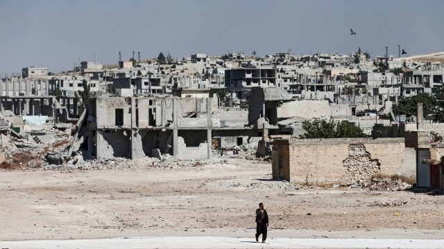 Die Stadt Kobanê nach der Befreiung vom Islamischer Staat