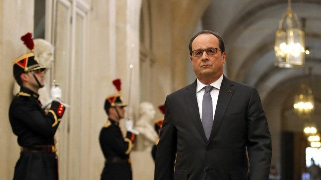 French President Hollande adresses parliament on Paris attacks re