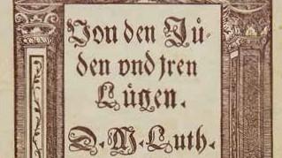 """Marthin Luther Antisemitismus Pamphlet """"Von den Jüden und iren Lügen"""" Juden Judenhass"""
