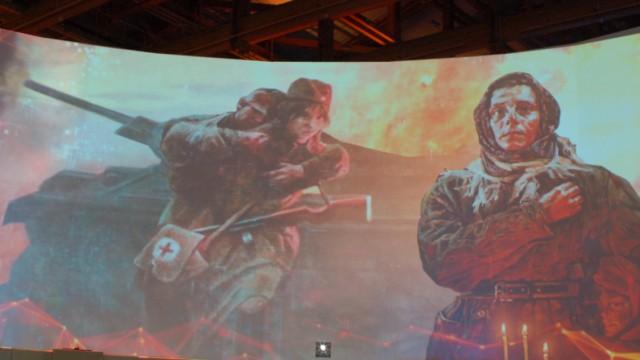 Rote Soldaten Ausstellung Russische Geschichte Moskau