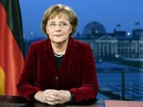 Bundeskanzlerin Angela Merkel hält Neujahrsansprache