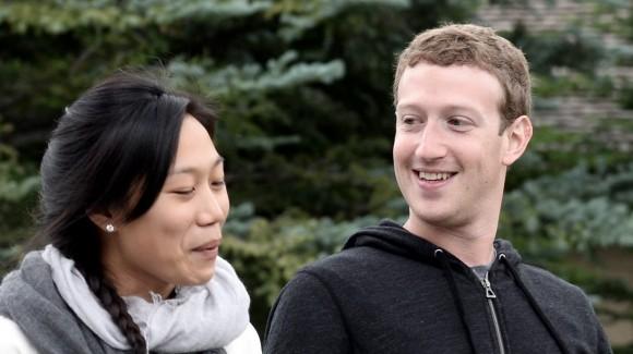 Mark Zuckerberg und Frau Chan