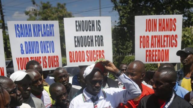 Kenyan athletes occupy Athletics Kenya HQ to protest