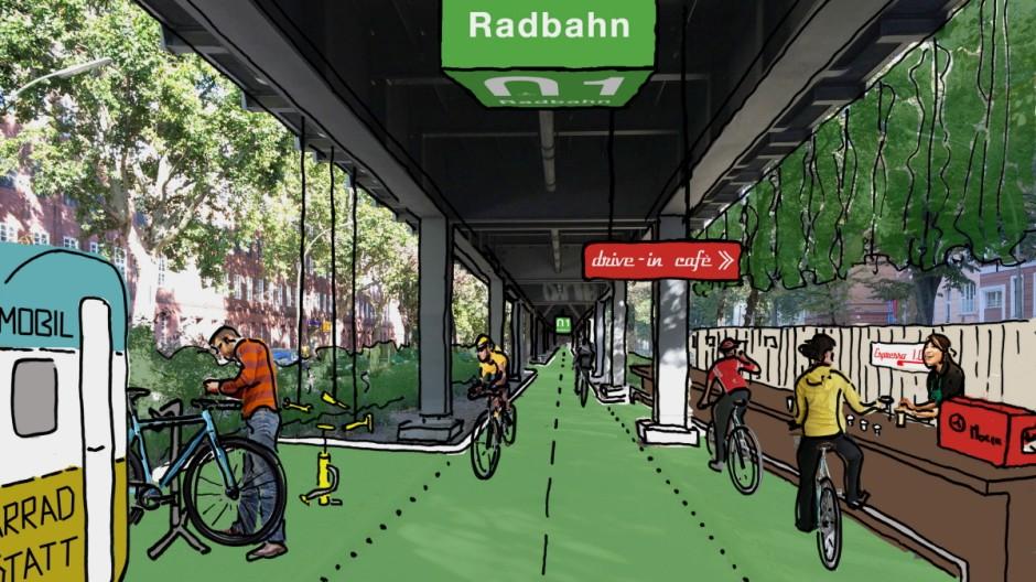 Radbahn Berlin (PR Material) Skizze