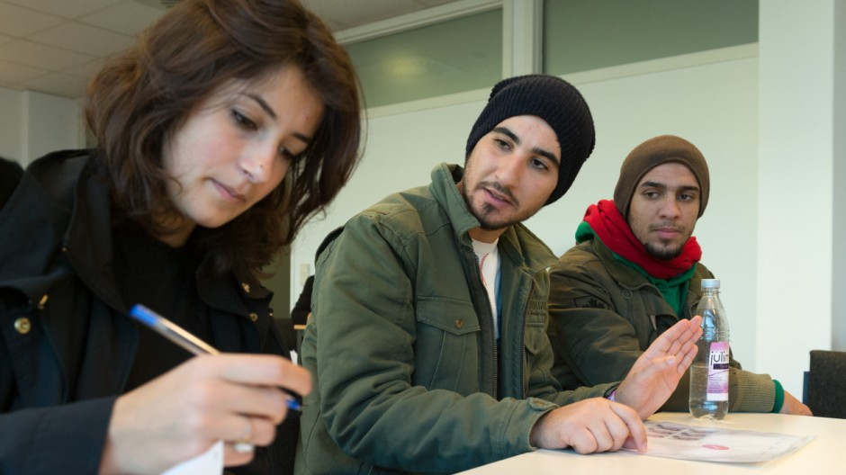 Flüchtlings-Registrierung in Berlin