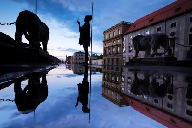 Blaue Stunde in München