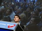 Frauke Petry, Chairwoman of the right-wing Alternative for Germany (AfD) party holds a speech at the party congress in Hannover