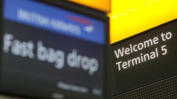 Neues Terminal 5 am Flughafen in Heathrow