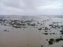 Flooded areas are pictured on the outskirts of Chennai