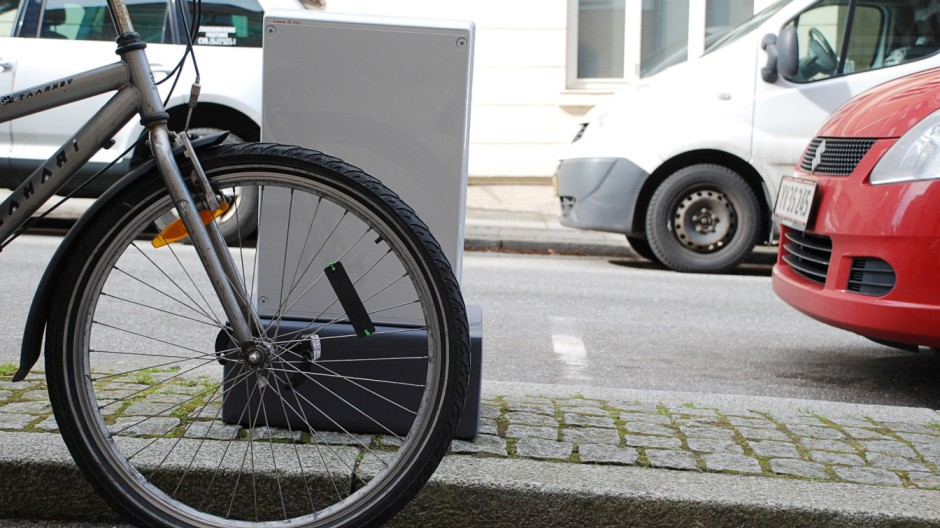 RFID-Technologie bei Fahrrädern in Aarhus.