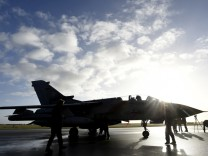 A Tornado aircraft of the Tactical Air Force Wing 51 'Immelmann' is pictured during a presentation at German army Bundeswehr airbase in Jagel near the German-Danish border