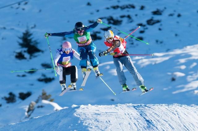 Ski Cross World Cup race in Montafon