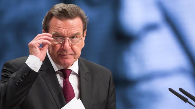 Gerhard Schröder auf dem SPD-Bundesparteitag