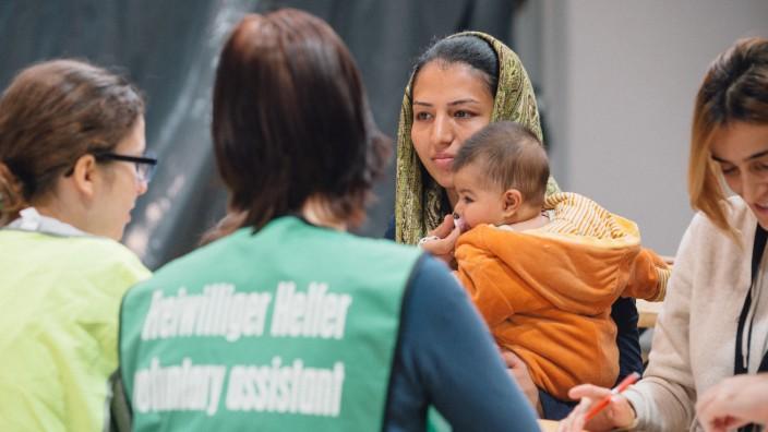 Erstaufnahme-Einrichtung für Flüchtlinge in Dresden