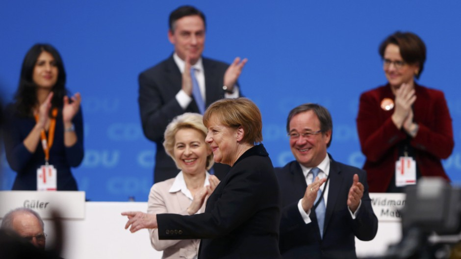 Angela Merkel auf dem CDU-Parteitag in Karlsruhe
