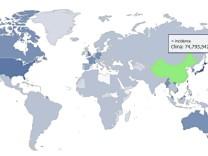 Genealogische Weltkarte