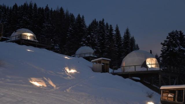 Berge Winter in den Alpen