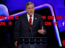 Republican U.S. presidential candidate and former Governor Jeb Bush speaks during the Republican presidential debate in Las Vegas