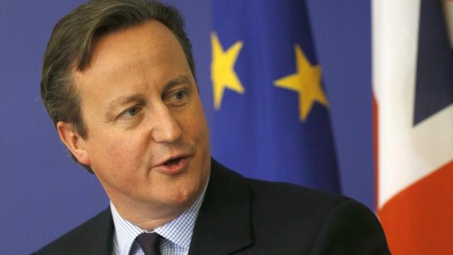 Britain's Prime Minister David Cameron addresses a news conference in Sofia