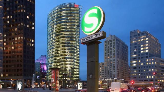 Potsdamer Platz At Night