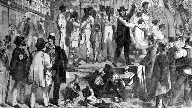 Verkauf von Sklaven in den USA