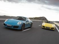 Der neue Porsche 911 Carrera S als Coupé und Cabrio.