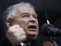 File picture of Kaczynski in Warsaw