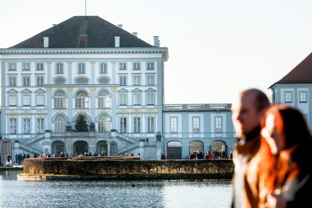Schloß Nymphenburg Winter Vergleichsfoto