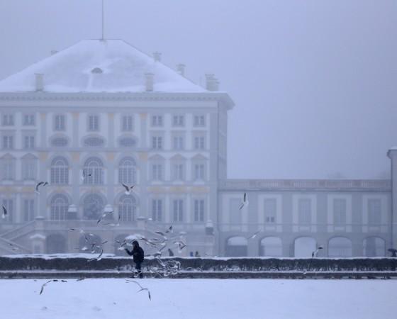 Nymphenburger Schloß in München im Winter, 2014