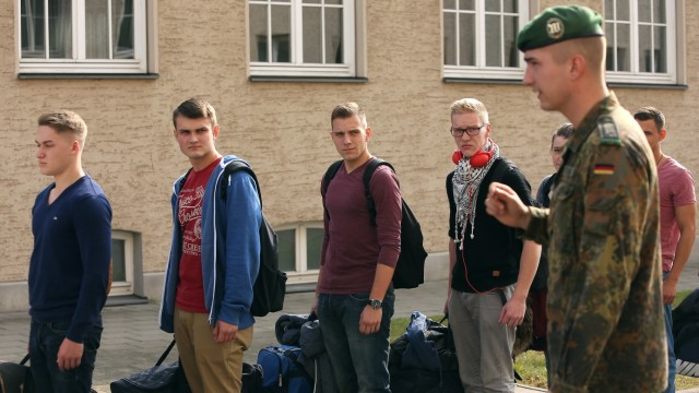 New Recruits Arrive At Bundeswehr Barracks