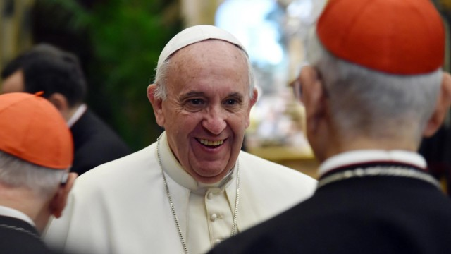 Pope Francis with Roman Curia