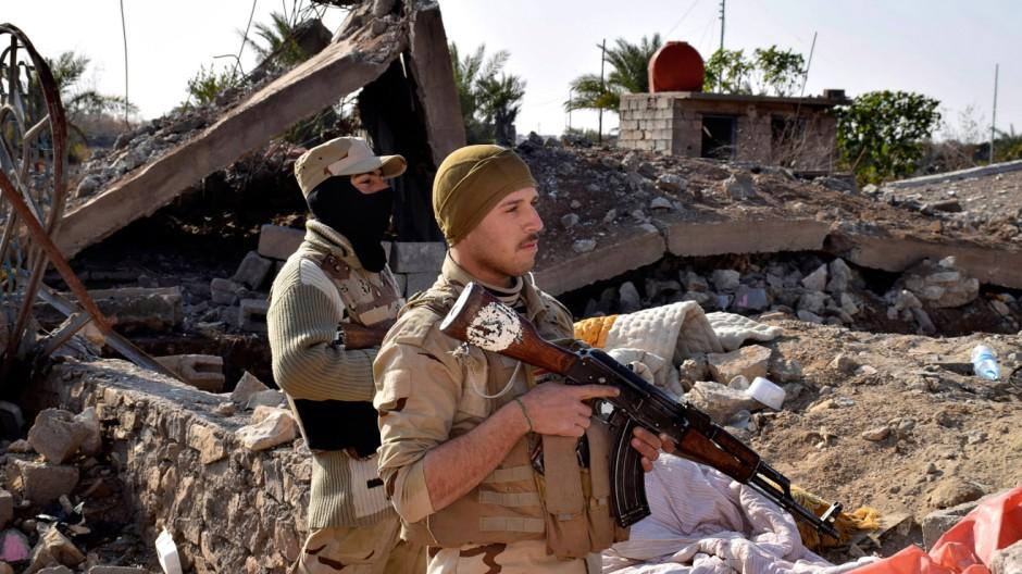 Irakische Soldaten vor Ramadi