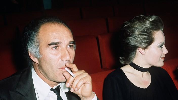 Michel Piccoli mit Romy Schneider 1971 in Paris.
