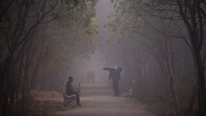 Smog in Neu Delhi