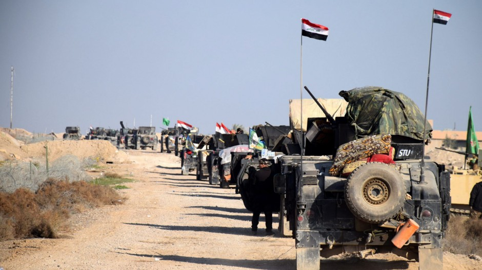 Iraqi military advance into the centre of Ramadi city