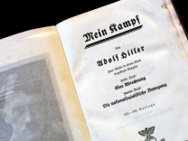 A copy of Adolf Hitler's book 'Mein Kampf' is pictured in Berlin