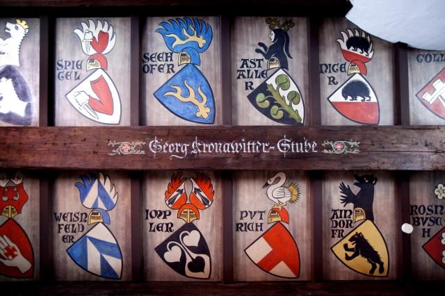 Ehrenbürgerzimmer, Georg Kronawitter-Stube oder Privatraum, der den Ehrenbürgern der Stadt München vorbehalten ist, im Alten Rathaus, Eingang Spielzeugmuseum, 4. Stock